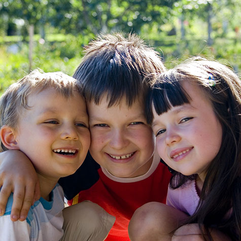 Three Kids smiling together