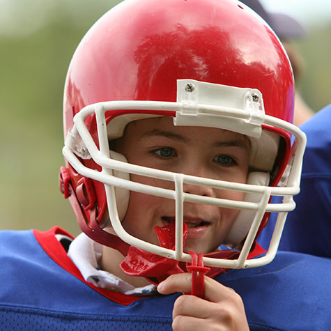 Young Boy in Football gear